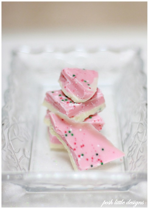 pink peppermint bark - holiday
