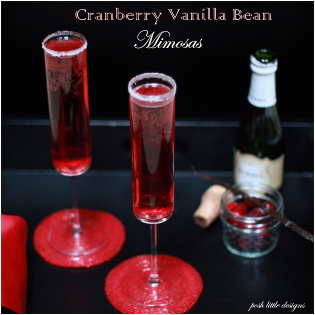 Cranberry Vanilla Mimosa