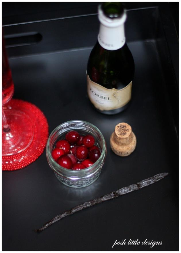 cranberry vanilla bean mimosa