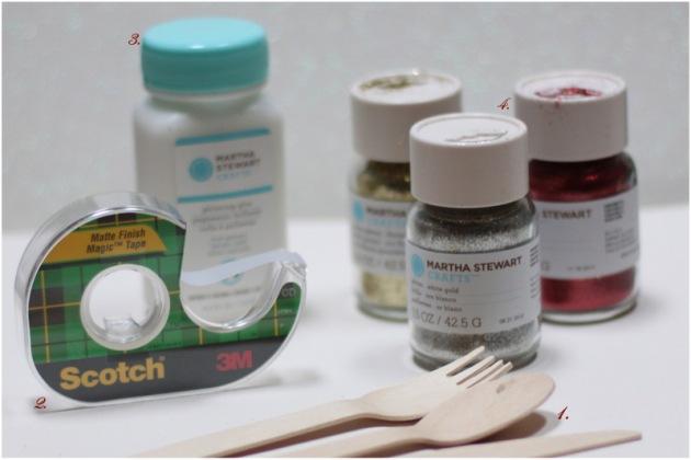 Glitter cutlery supplies