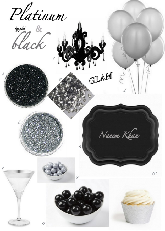 Platinum and Black - party inspiration