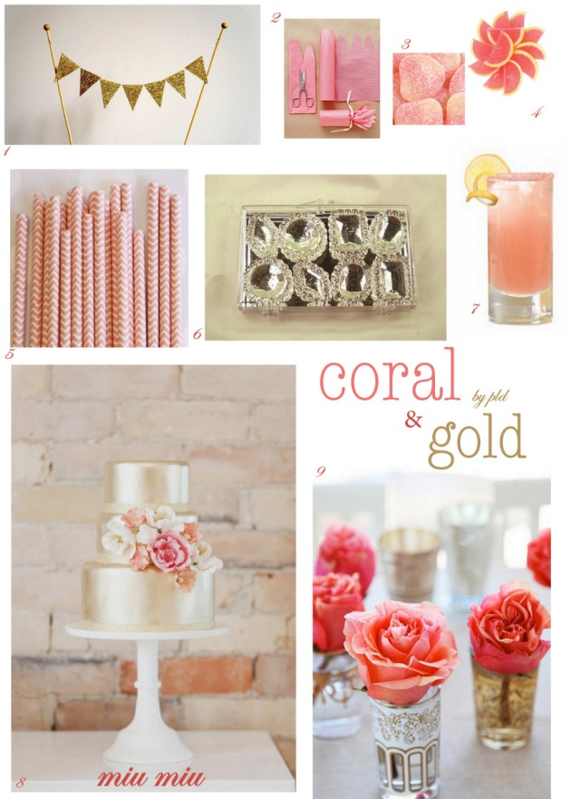 Coral & Gold party inspiration