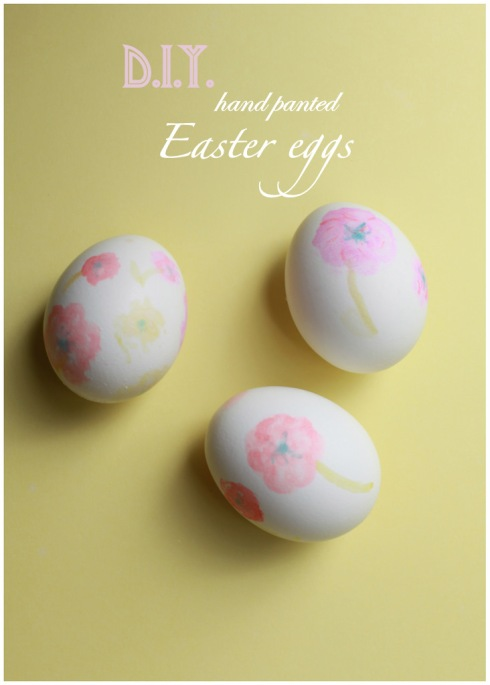 diy hand painted easter eggs