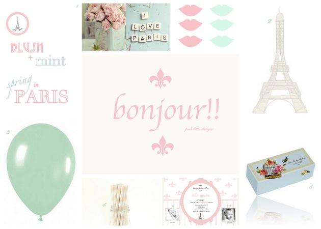 1st Birthday Invite - Spring in Paris