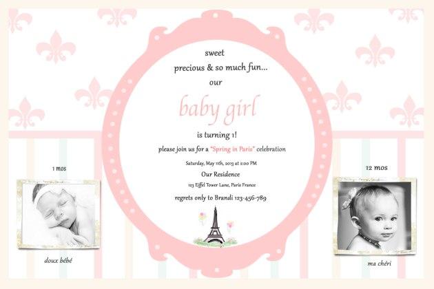 Paris Invite - Spring