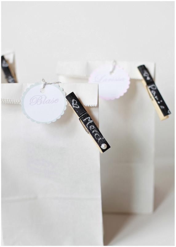 Chalkboard clothespins