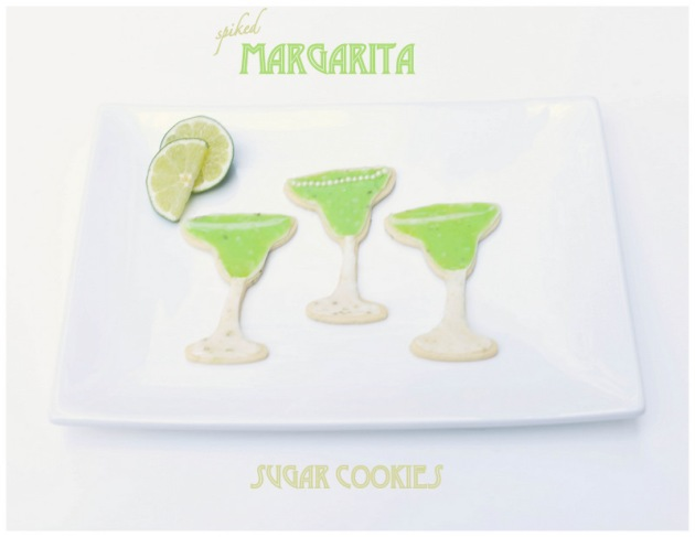spiked margarita sugar cookies