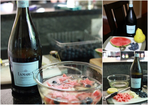 Prosecco infused fruit