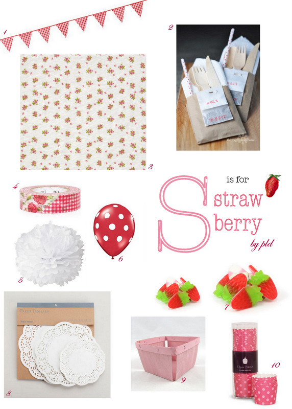 Strawberry party inspiration by PLD