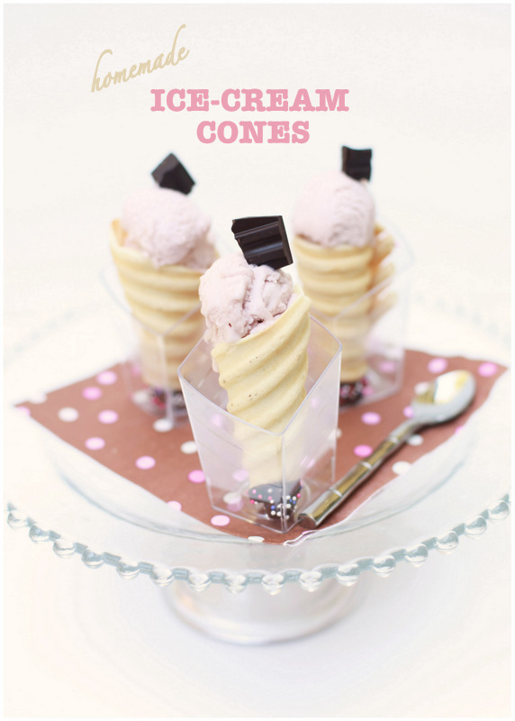 Homemade Ice-cream cones