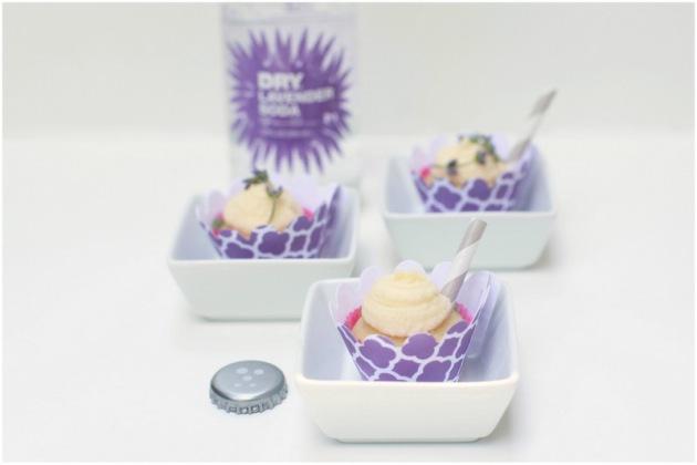 Mini lavender cupcakes