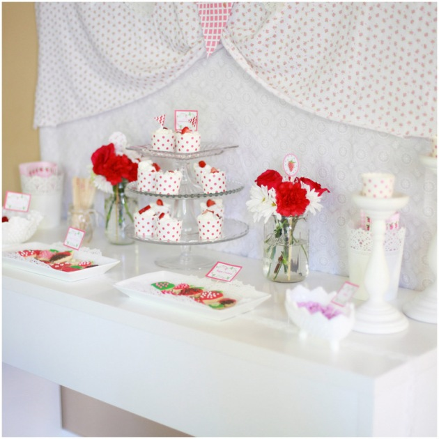 Strawberry Shortcake - Dessert Table