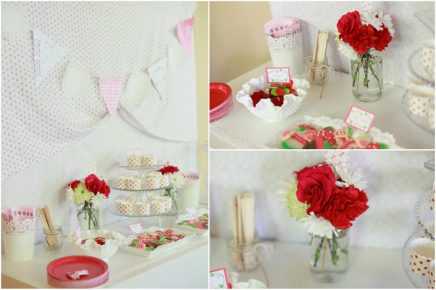 Dessert Table details - Strawberry Shortcake