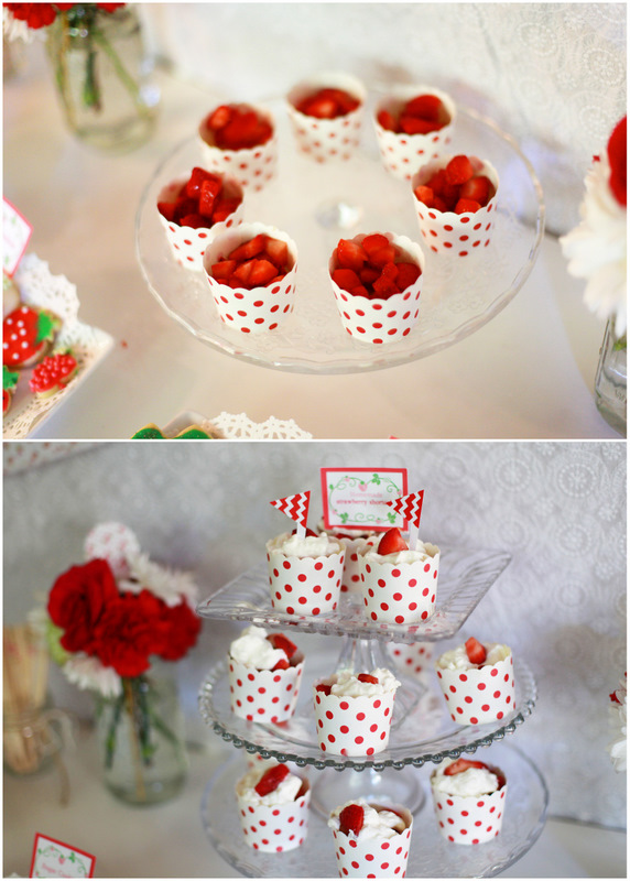 Homemade mini strawberry shortcake