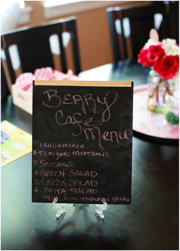 Berry Cafe menu