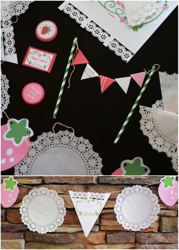 Strawberry Shortcake Prints, Labels & Banners - Posh Little Designs