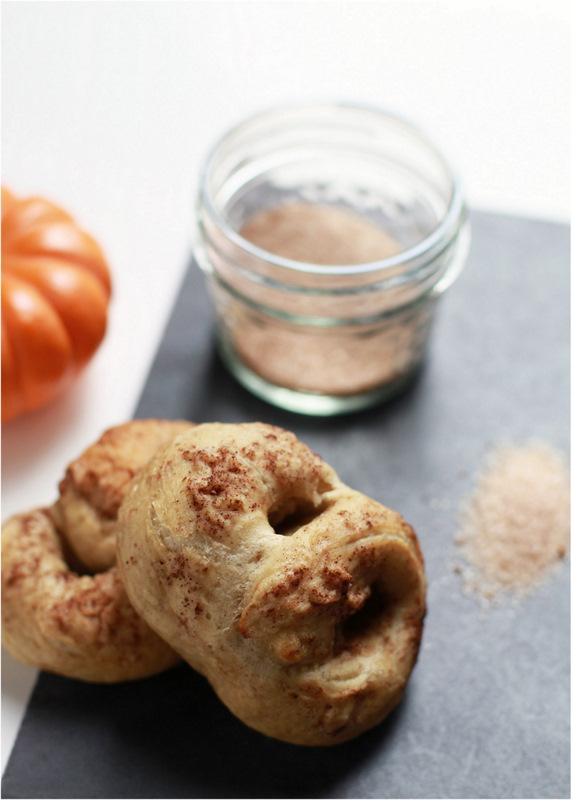 Vegan Pumpkin Spice Soft Pretzels - PLD