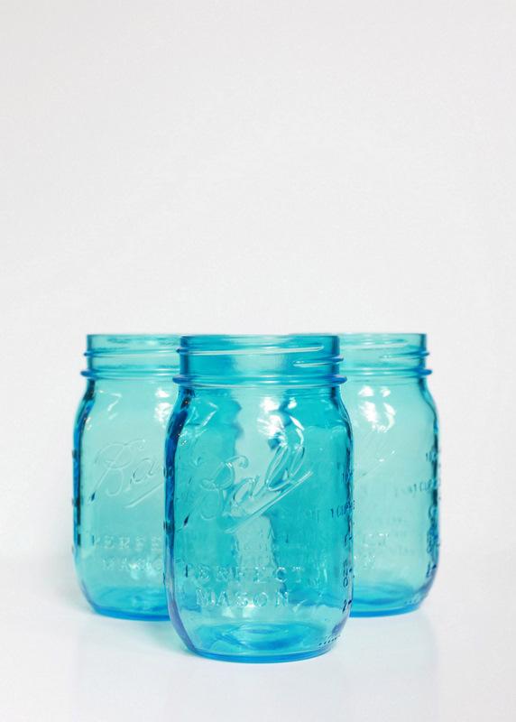 Vintage Blue Mason Jars