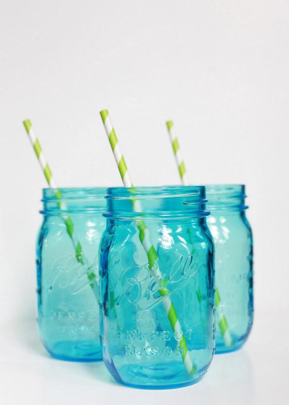 Vintage Blue Mason Jars - PLD