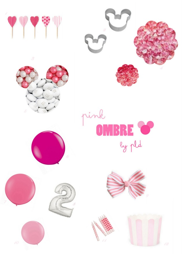 Ombre Minnie Mouse | Posh Little Designs