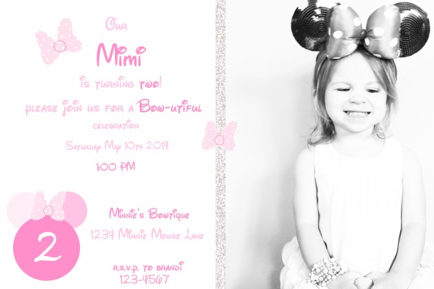 Minnie Sample Invite | Posh Little Designs