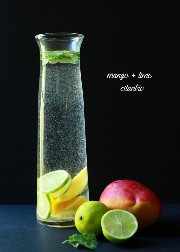 Mango Lime Cilantro Infused Water | Posh Little Designs