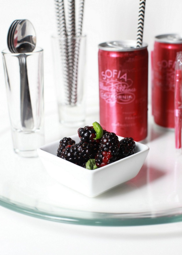 Blackberry Basil Sorbet + Champagne | Posh Little Designs