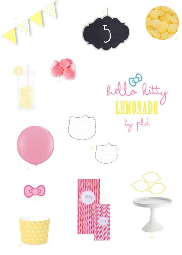 Hello Kitty Lemonade Party Inspiration | Posh Little Designs