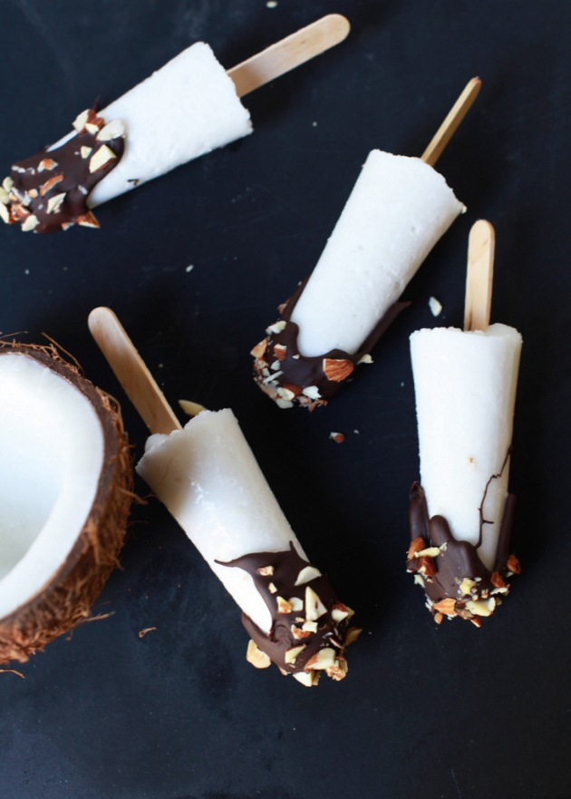 Chocolate Coconut Popsicles (V) | Posh Little Designs