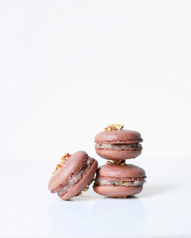 German Chocolate French Macarons | Posh Little Designs