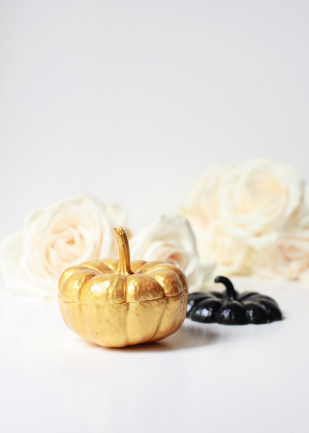 Black & Gold Mini Pumpkin Vases | Posh Little Designs