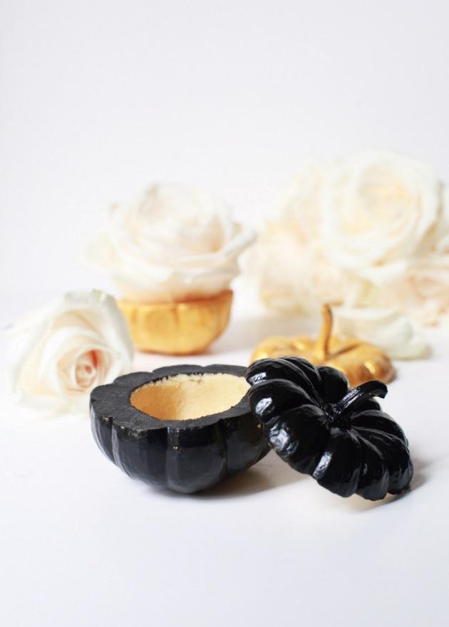 Black & Gold Mini Pumpkin Vases | Posh Little Designs