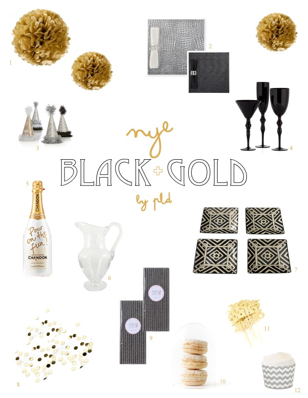 NYE Black + Gold | Party Inspo | Posh Little Designs