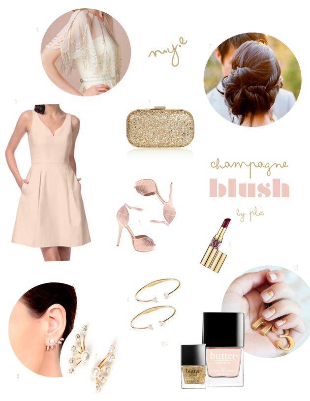Champagne Blush | Inspiration for the NYE Bridesmaid  via Posh Little Designs