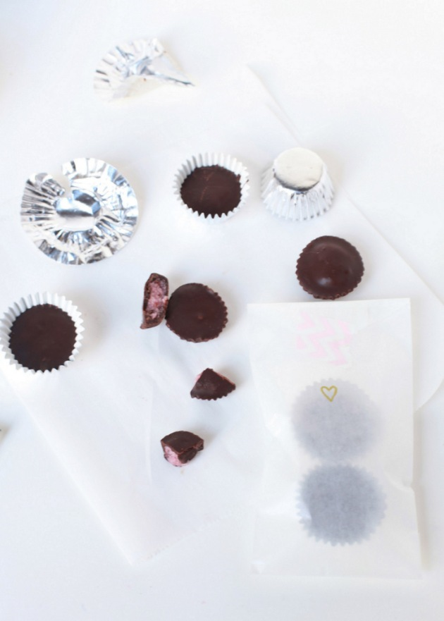 Coconut Cherry Chocolate Cups | Posh Little Designs