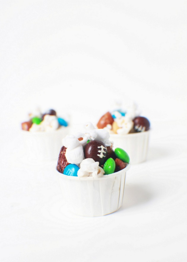 Super Bowl Party Popcorn | Posh Little Designs