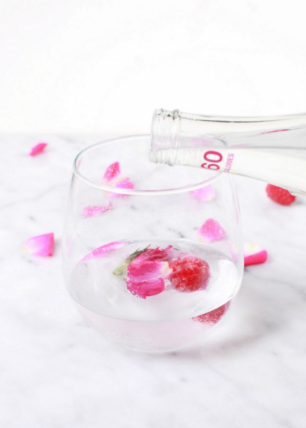 Raspberry Rose Ice Cubes | Posh Little Designs