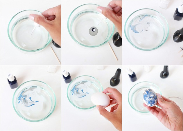 DIY Marble Eggs | Posh Little Designs