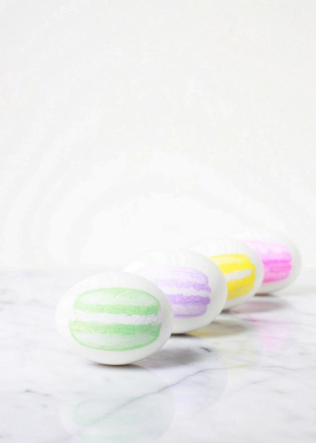 Macaron Painted Easter Eggs | Posh Little Designs