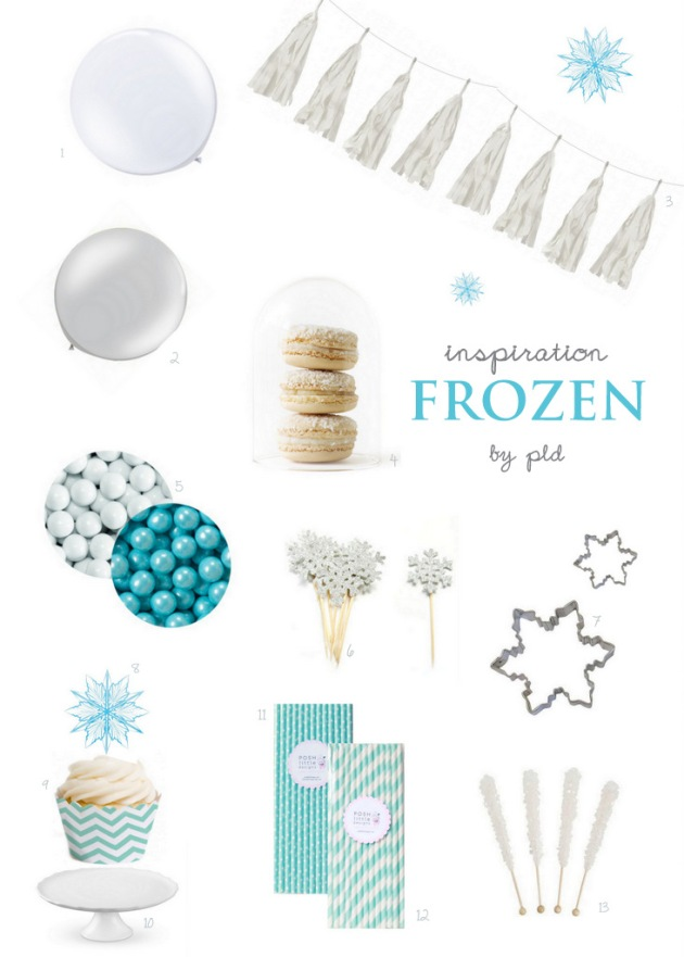 Frozen Party Inspo by Posh Little Designs